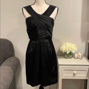 BCBGMaxAzria Black Cross Strap Black Mini Dress S